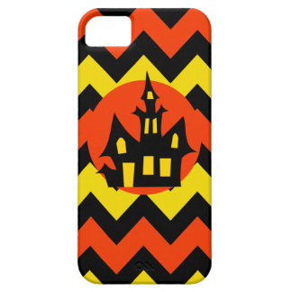 Halloween Chevron Spooky Haunted House Design Case For The iPhone 5