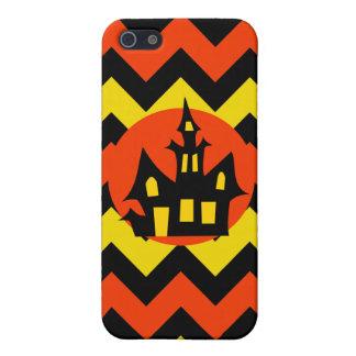 Halloween Chevron Spooky Haunted House Design iPhone 5 Cases