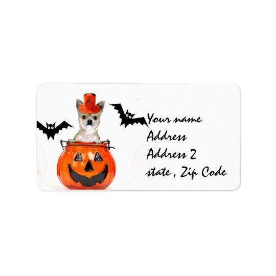 Halloween Chihuahua dog Address Label