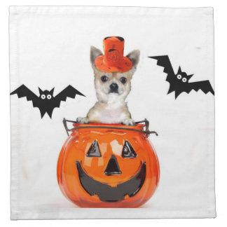Halloween Chihuahua dog Cloth Napkin