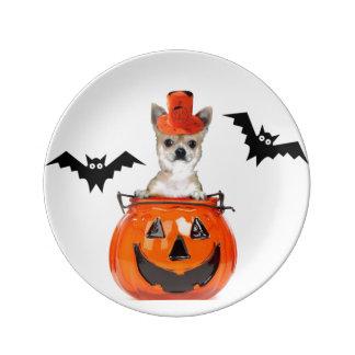 Halloween Chihuahua dog Porcelain Plate