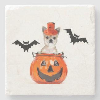Halloween chihuahua dog stone coaster
