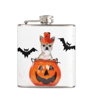 Halloween Chihuahua dog Flask