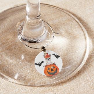 Halloween Chihuahua dog Wine Charm