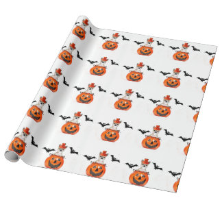 Halloween Chihuahua dog Wrapping Paper