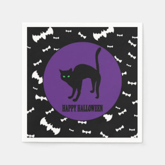 Halloween - Child - Family - Black Cat Disposable Napkin