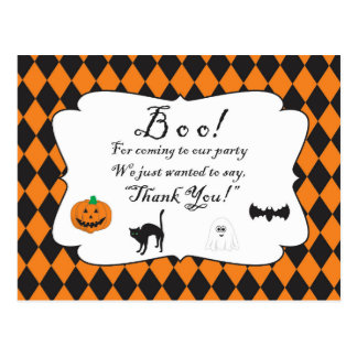 Halloween - Child - Family - Thank You Note Postcard