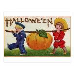 Halloween Children Post Card