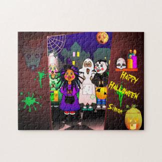 Halloween Children Tick Or Treating Jigsaw Puzzle