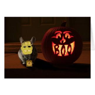 Halloween Chinchilla Card