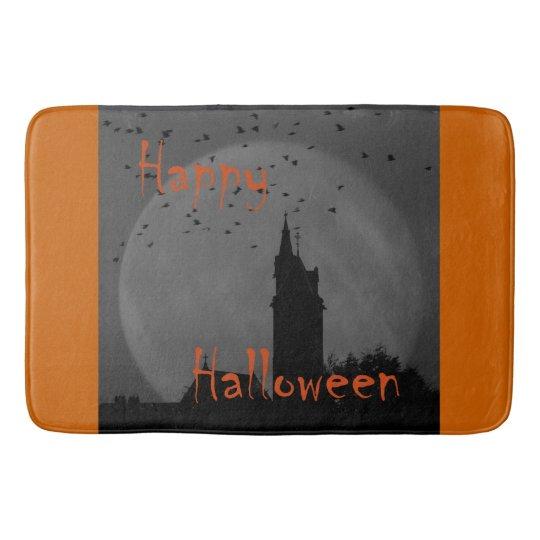 Halloween church bath mat
