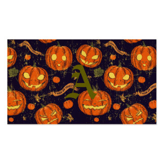 Halloween,classic,pumkin,vintage patten,scary,cute pack of standard business cards