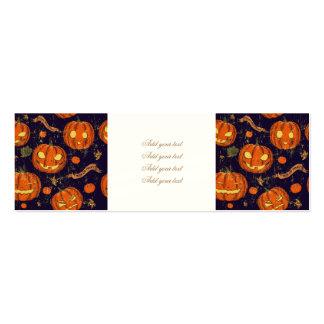 Halloween,classic,pumkin,vintage patten,scary,cute pack of skinny business cards