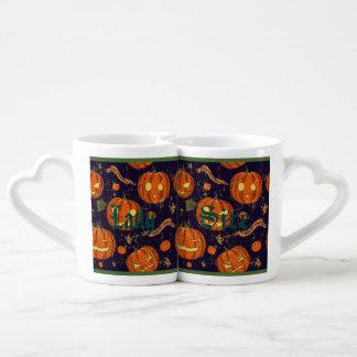 Halloween,classic,pumkin,vintage patten,scary,cute lovers mug