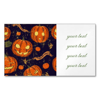 Halloween,classic,pumkin,vintage patten,scary,cute magnetic business cards