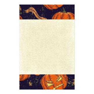 Halloween,classic,pumkin,vintage patten,scary,cute stationery design