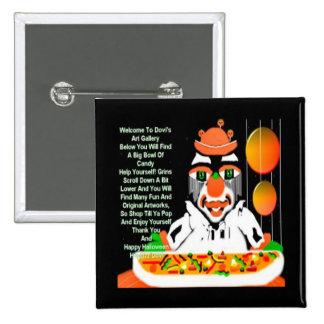 Halloween clown magnet1 Button