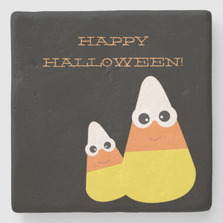 Halloween Coasters with Dancing Candy Corn