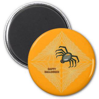 Halloween Cobweb and Spider Refrigerator Magnet