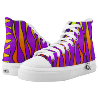 HALLOWEEN COLORED STRIPES HIGH TOPS