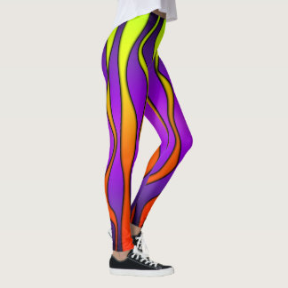 HALLOWEEN COLORED STRIPES LEGGINGS