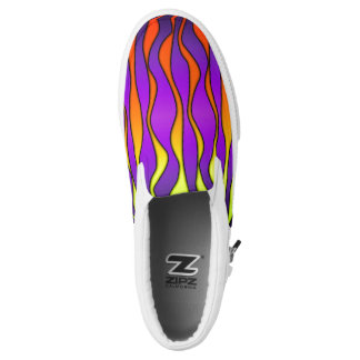 HALLOWEEN COLORED STRIPES Slip-On SHOES