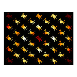 Halloween Colors Spiders Pattern Postcard