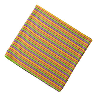 Halloween Colors Striped Pattern Bandana