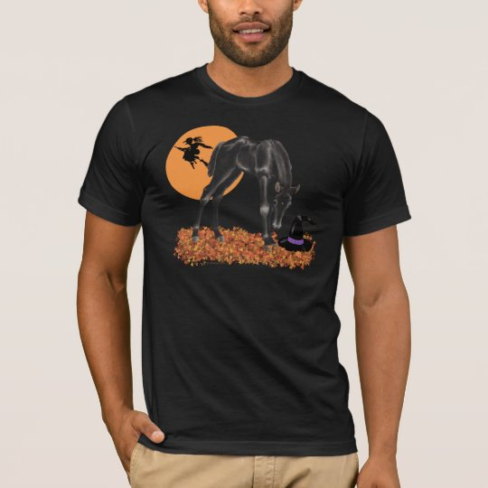 Halloween Colt Witch's Hat Fall Leaves T-Shirt
