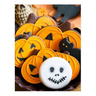 Halloween cookies postcard
