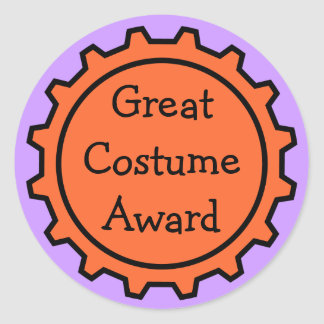 Halloween Costume Award Stickers