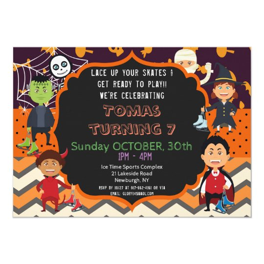 HALLOWEEN COSTUME BIRTHDAY PARTY INVITATION | KIDS
