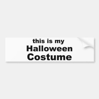 Halloween Costume Bumper Sticker
