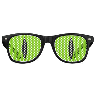 Halloween Costume Cat Witch Eyes Glasses. (Green) Retro Sunglasses