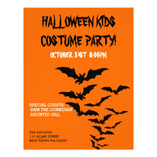 Halloween Costume Kids Party Announcement Flyer
