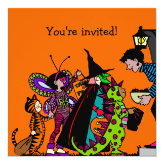 Halloween Costume Party 13 Cm X 13 Cm Square Invitation Card