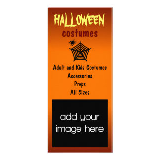 Halloween Costumes Rack Cards Rack Card