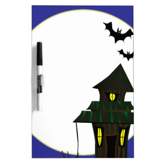 Halloween Cottoge Dry Erase Whiteboard