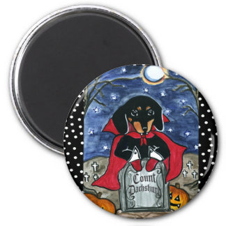 Halloween Count Dachshund Refrigerator Magnet