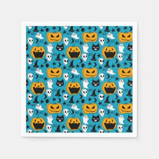 Halloween Creatures Illustration Disposable Serviettes
