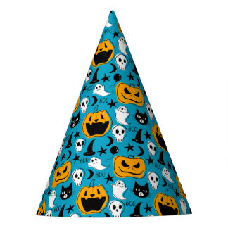 Halloween Creatures Illustration Party Hat