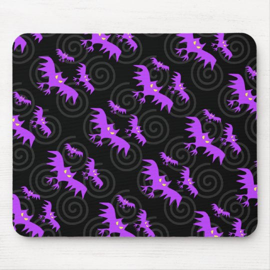 Halloween Creepy Bats Mousepad