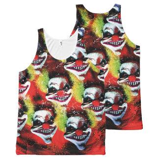 halloween creepy evil horror clown collage All-Over print tank top