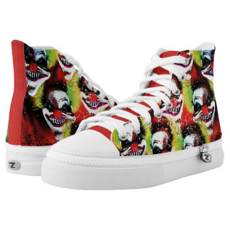 halloween creepy evil horror clown collage high tops