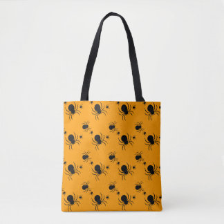 HALLOWEEN:  CREEPY SPIDERS TOTE BAG