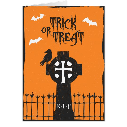 Halloween Cross Card