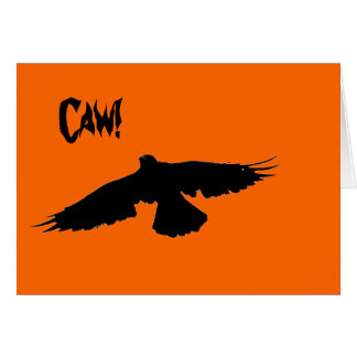 Halloween Crow Card