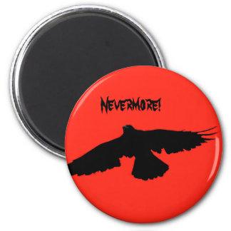 Halloween Crow Card 6 Cm Round Magnet