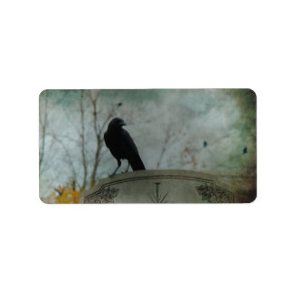 Halloween Crows Label
