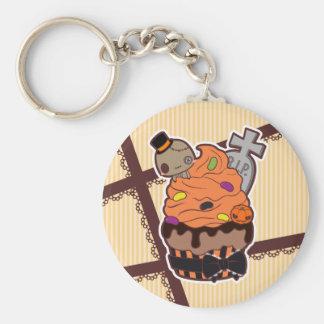 Halloween Cupcake Basic Round Button Key Ring